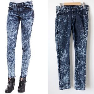 rag & bone/JEAN The Skinny Deep Acid Wash Jeans 26